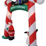 8-Foot-Tall-Lighted-Christmas-Inflatable-Candy-Cane-Archway-with-Santa-Claus-Snowman-Penguins-and-Gift-Yard-Party-Decoration-0-1