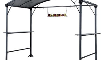 Abba Patio 9 X 5 Outdoor Backyard BBQ Grill Gazebo With Steel Canopy
