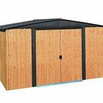 Arrow-WL108-Woodlake-10-Feet-by-8-Feet-Steel-Storage-Shed-0