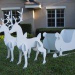 Christmas-Outdoor-Santa-Sleigh-and-2-Reindeer-Set-0