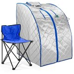 Durasage-XLarge-Infrared-IR-FAR-Portable-Indoor-Personal-SPA-Sauna-with-Heating-Food-Pad-and-Chair-0