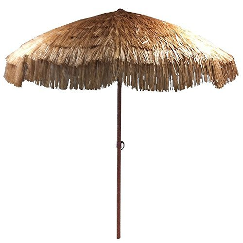 EasyGo   8u0027 Thatch Patio Tiki Umbrella U2013 Tropical Palapa Raffia Tiki Hut  Hawaiian Hula