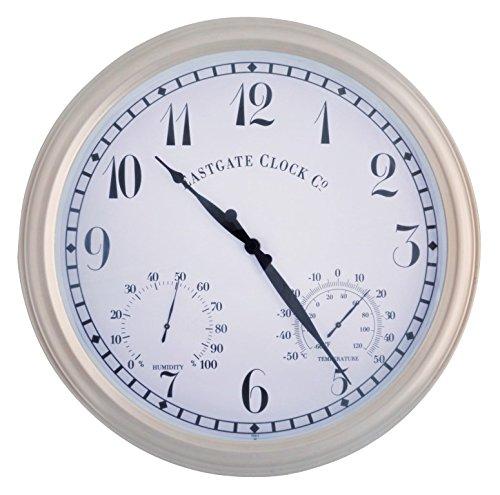 esschert design metal outdoor clock large