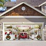Huge-Santas-Reindeer-Barn-Outdoor-Christmas-Holiday-Garage-Door-Dcor-7×16-0