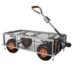 Ivation-Garden-Cart-Steel-Mesh-Convertible-Flatbed-Utility-Wagon-400-Lb-Load-Capacity-Measures-34-x-18-x-21–Removable-Sides-NON-SMELL-Wheels-0-0