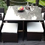 Merax-9-Pc-Modern-IndoorOutdoor-All-Weather-PE-Wicker-Rattan-Table-Patio-Set-Gardern-Furniture-Dining-Sets-0