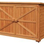 Merax-Wooden-Garden-Shed-Wooden-Lockers-with-Fir-wood-Natural-wood-color-Double-door-2-0