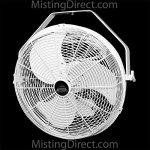 Misting-Direct-White-18-Inch-IndoorOutdoor-WallCeilingPole-Mount-Wet-Location-Fan-0