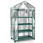 Plant-Greenhouse-on-Wheels-with-Clear-Cover-4-Tiers-Rack-Stands-Indoor-Outdoor-Portable-Solution-Kit-for-Home-Herb-and-Flower-Garden-Green-House-0