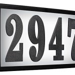 Qualarc-SRST-AB60-LED-BLK-Serrano-Low-Voltage-Rust-Free-Galvanized-Steel-Rectangular-LED-Lighted-Address-Plaque-with-4-Polymer-Numbers-Black-0