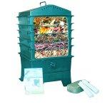 VermiHut-5-Tray-Worm-Compost-Bin-Dark-Green-0