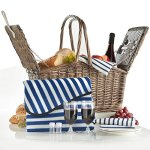 VonShef-Deluxe-2-Person-Folding-Handle-Picnic-Basket-Hamper-with-Cutlery-Plates-Glasses-Tableware-Fleece-Blanket-0
