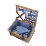 VonShef-Deluxe-2-Person-Traditional-Wicker-Picnic-Basket-Hamper-with-Cutlery-Plates-Glasses-Tableware-Fleece-Blanket-0-1