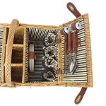 Zelancio-4-Person-Square-Picnic-Basket-Set-With-Insulated-Cooler-Insert-Large-Service-for-Four-0-1