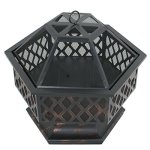 Zeny-Fire-Pit-Hex-Shaped-Fireplace-Outdoor-Home-Garden-Backyard-FirepitOil-Rubbed-Bronze-Bronze-0-1