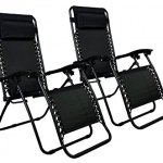 Zero-Gravity-Chairs-Case-Of-2-Black-Lounge-Patio-Chairs-Outdoor-Yard-Beach-O62-0-0