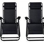 Zero-Gravity-Chairs-Case-Of-2-Black-Lounge-Patio-Chairs-Outdoor-Yard-Beach-O62-0-1