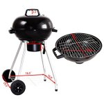 185-Charcoal-Grill-Enamel-Lid-2-Bottom-Storage-Wire-Rack-Wheels-Kettle-Style-Design-Outdoor-Garden-Patio-Backyard-Yard-BBQ-Barbecue-Cooking-Grilling-Durable-Sturdy-Steel-Frame-Removable-Ash-Catcher-0-1