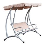 3-Person-Steel-Outdoor-Patio-Porch-Swing-Chair-with-Adjustable-Canopy-Rocker-0-2