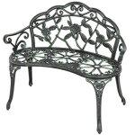 40-Antique-Rose-Pattern-Garden-Bench-Sturdy-Aluminum-Cast-Frame-Outdoor-Seats-Chair-Home-Backyard-Deck-Porch-Furniture-Decor-Antique-Green-1854grn-0-0