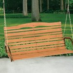48-High-Back-Wood-Swing-with-Chain-Seats-2-People-Easily-Assembly-High-Back-Rounded-Seats-Comes-With-a-Strong-Hang-Chain-Natural-Hardwood-500-lb-Weight-Capacity-Perfect-Addition-to-Your-Patio-0