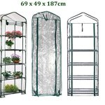 AdvancedShop-69-x-49-x-187cm-Apex-Roof-5-Tiers-Garden-Greenhouse-Hot-Plant-House-Shelf-Shed-Clear-PVC-Cover-by-0-0