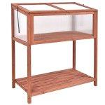 AyaMastro-Portable-Fir-Wood-Garden-Greenhouse-Raised-Flower-Planter-Protection-wBottom-Shelf-0-1