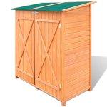 BLXCOMUS-Outdoor-Wooden-Storage-Shed-Garden-Tool-Garage-Storage-Organizer-2-layer-Cabinet-Large-Room-With-Size543-x-258-x-63Double-DoorLockable-Door-Latches-0