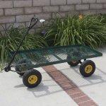 Best-Choice-Products-Wagon-Garden-Cart-Nursery-Trailer-Heavy-Duty-Cart-Yard-Gardening-Patio-New-0