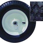 Bon-11-661-Premium-Contractor-Grade-Poly-Tray-Double-Wheel-Wheelbarrow-with-Wood-Hande-and-Knobby-Tire-5-34-Cubic-Feet-0-0