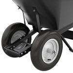 Bon-28-909-Premium-Contractor-Grade-Poly-Tray-Double-Wheel-Wheelbarrow-with-Steel-Handle-and-Ribbed-Tire-5-34-Cubic-Feet-0-1