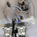 Complete-Goat-Bucket-Milkerwith-34HP-55CFM-Twin-Piston-Oil-Less-Oil-Free-OILLESS-OILFREE-Vacuum-Pump-10L-SS-Bucket-Pail-Clear-Claw-ClusterPulsatorShellsLiners-and-All-The-Hoses-Ready-Milk-0-0