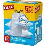 Glad-OdorShield-Tall-Kitchen-Drawstring-Trash-Bags-Febreze-Fresh-Clean-13-Gallon-110-Count-2-Pack-0-0