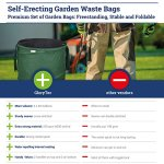 GloryTec-3-Pack-Collapsible-Garden-Bag-45-Gallons-Each-Heavy-Duty-Gardening-Container-Comparative-Winner-2018-Reusable-Trash-Can-for-Leaf-Lawn-and-Yard-Waste-Premium-Bagster-0-1