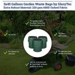 GloryTec-3-Pack-Collapsible-Garden-Bag-45-Gallons-Each-Heavy-Duty-Gardening-Container-Comparative-Winner-2018-Reusable-Trash-Can-for-Leaf-Lawn-and-Yard-Waste-Premium-Bagster-0-2