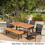 Great-Deal-Furniture-Salla-6-Piece-Outdoor-Acacia-Wood-Dining-Set-with-Wicker-Stacking-Chairs-in-Multibrown-with-Teak-Finish-0-1