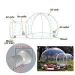 HUKOER-Stylish-Conservatory-Play-Area-for-Children-Greenhouse-or-GazeboOutdoor-Single-Tunnel-Inflatable-Bubble-TentFamily-Camping-Backyard-Transparent-Tent-With-Blower-0-2