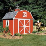 Handy-Home-Products-Berkley-Wooden-Storage-Shed-with-Floor-10-by-10-Feet-0-0