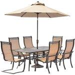 Hanover-Manor-Aluminum-7-Piece-Rectangular-Patio-Dining-Set-with-Umbrella-and-Stand-0