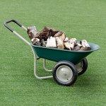 Honesty-2-Tire-Wheelbarrow-Garden-Yard-Cart-Landscape-Wagon-Heavy-Duty-0-0