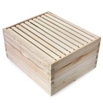 Honey-Keeper-Beehive-10-Frame-Kit-Super-Box-and-10-Deep-Frames-with-Foundations-for-Langstroth-Beekeeping-0