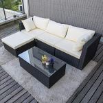 Pamapic-Outdoor-5-Pieces-Patio-Furniture-SetsChaise-Longue-Wicker-Rattan-Conversation-Set-with-Tempered-Glass-Coffee-Table-0-0