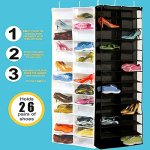 RedSonicsTM-26-Pockets-Hanging-Storage-Bags-Door-Foldable-Wardrobe-Hanging-Bags-Save-Space-Organizer-Shoes-Underpants-Storage-Bag-0-0
