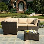 W-Unlimited-Infinity-Collection-7-Piece-Garden-Patio-Sectional-Furniture-Set-Dark-Brown-Wicker-Beige-Cushion-0