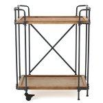 Waldman-Antique-Finish-Fir-Wood-and-Iron-Coffee-Cart-0-0