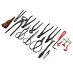 14Pcs-Bonsai-Tools-Kit-Set-Carbon-Steel-Cutter-Scissors-Shears-Tree-Nylon-Case-0-0