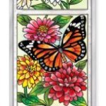 Amia-Beveled-Glass-Triptych-Decor-Panel-Butterfly-Garden-in-Bloom-4-12-by-16-Inch-Hand-Painted-on-Glass-0