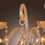 Artisitc-Wall-Light-with-2-Lights-Candle-Style-Amber-Crystal-A-0-2