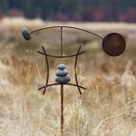Aura-Life-Zen-Garden-Spinner-Kinetic-Wind-Sculpture-Balanced-Arch-Yard-Decor-with-Rock-Cairn-and-Stake-Relaxing-Metal-Art-Wind-Vane-Sculptures-Handmade-in-The-USA-0-0