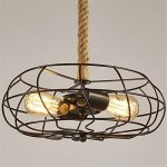 BAYCHEER-HL422086-Industrial-Retro-Vintage-style-with-3937-inch-hemp-rope-2-Lights-Chandelier-Pendant-Light-Lampe-use-E2627-Bulb-0-0